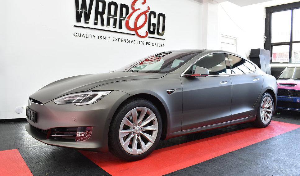 Carwrap Tesla Model 3M Matte Charcoal WrapAndGo