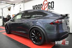 Tesla Model X Chrome Delete Satin Black