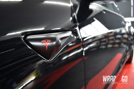 Tesla Model 3 Chrome Delete Satin Black