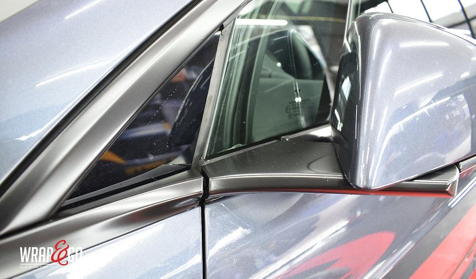 Tesla Model X Carwrap Mirror