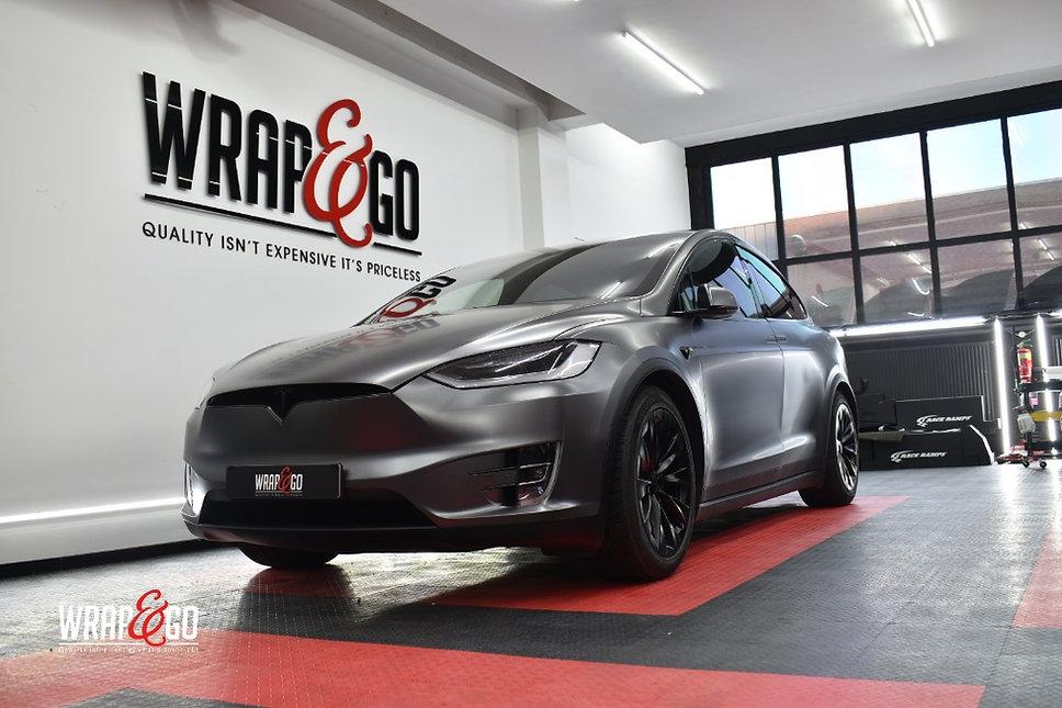 Tesla Model X Carwrap Dark Satin Grey