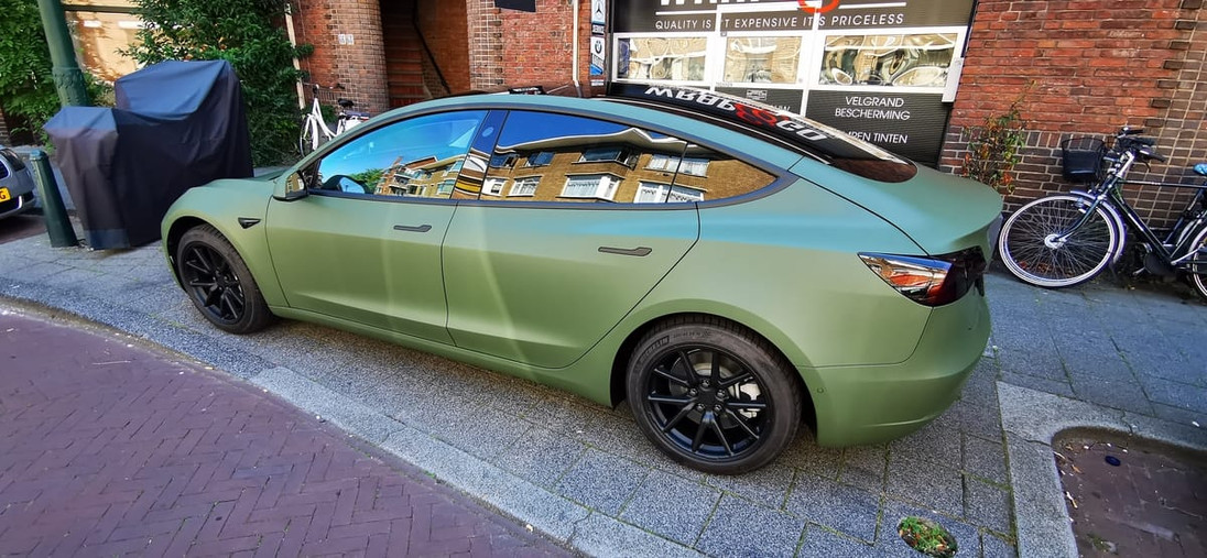 Tesla Model 3 3M Army Military Green Wra