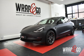 Tesla Model 3 3M Matte Black Carwrap
