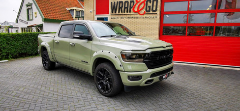 Dodge Ram Inozetek Khaki Green Auto Wrap.jpg