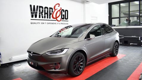 Tesla Model X 3M Matte Dark Grey Carwrap