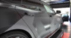 Carwrap Tesla Model S 3M Matte Silver WrapAndGo pdc