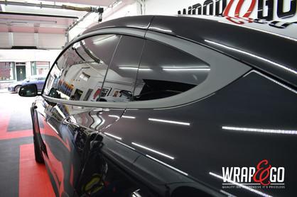 Tesla Model X Chrome Delete Mat Zwart Ra