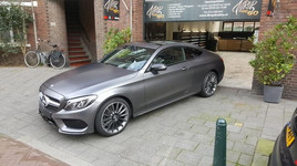 Mercedes C-Coupe 3M Satin Dark Grey Auto Wrap