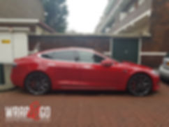 Carwrap Tesla Model S Remklauwen Verven