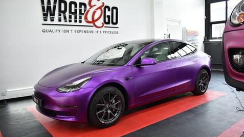 Teckwrap Satin Purple Chrome