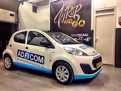 auto belettering, reclame, bedrijfsauto
