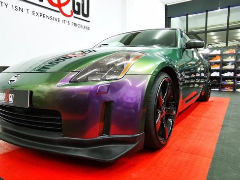 Nissan 350z wrap Hexis en 3M Carbon