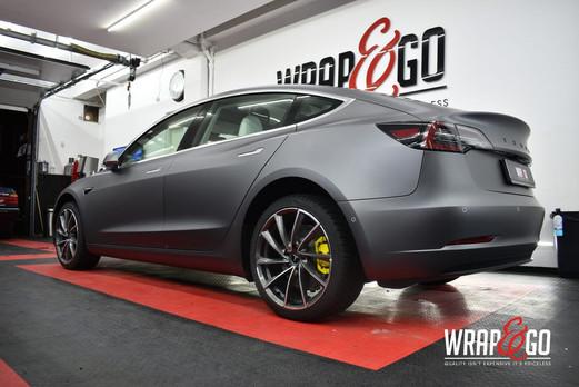 Tesla Model 3 3M Matte Dark Grey Car Wra