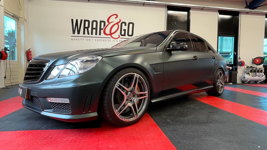 Mercedes E63 AMG W212 wrap PWF Matte Sma