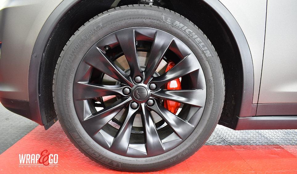 Tesla Model X 3M Matte Charcoal Carwrap Vegen spuiten