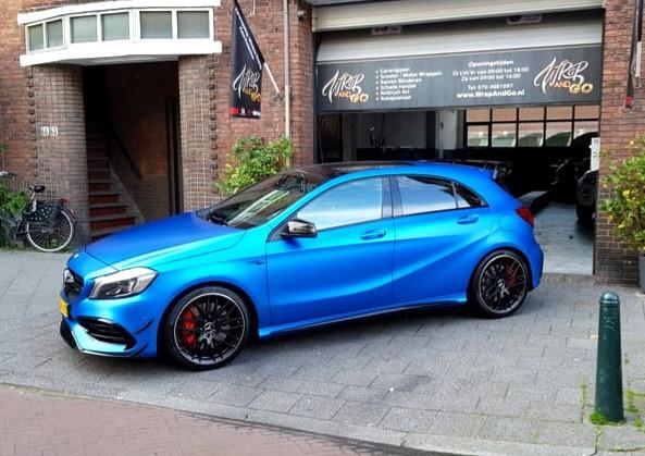 Mercedes A-Klasse Car Wrap 3M Satin Perf