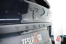 Tesla Model X Chrome Delete Mat Zwart