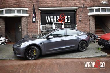 Tesla Model 3 Mat Zwart Chrome Delete Da