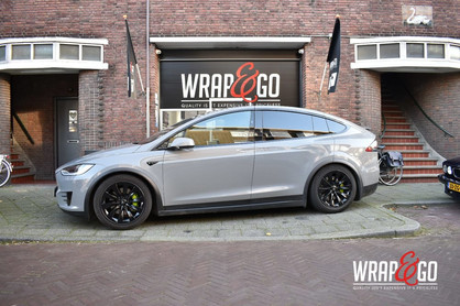 Tesla Model X Avery Nardo Grey Car Wrap