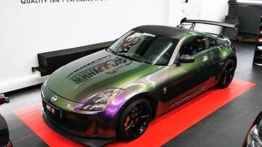 Nissan 350z wrap Hexis