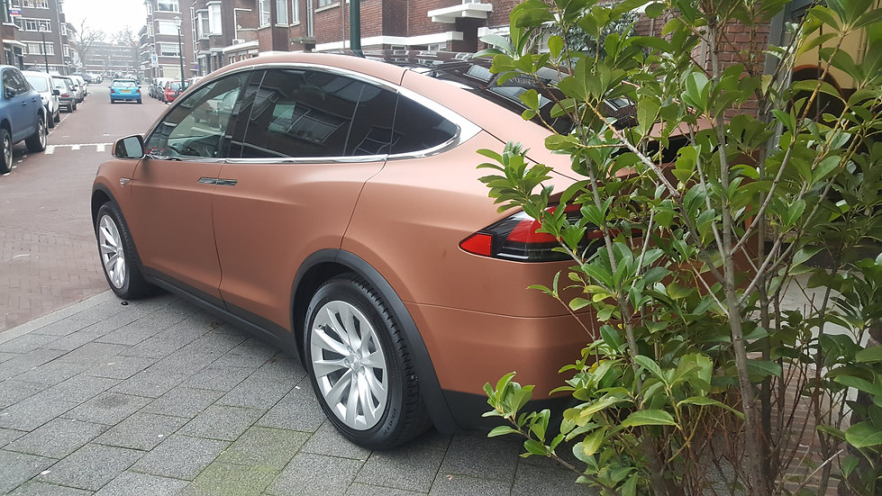 Tesla Model X 3M Matte Copper Metallic