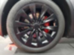 Carwrap Tesla Model X 3M Satin Grey WrapAndGo Wheels