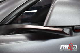 Tesla Model 3 Satin Dark Grey Auto Wrap Spiegels