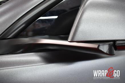 Tesla Model 3 Satin Dark Grey Auto Wrap Spiegels