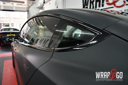 Tesla Model 3 3M Matte Black Carwrap raa