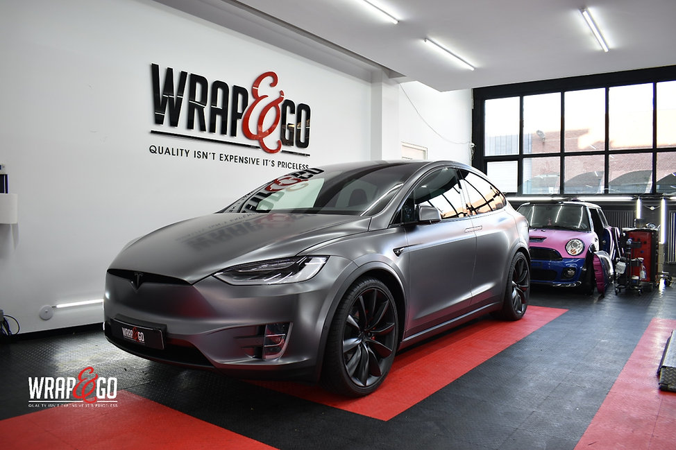 Tesla Model X Carwrap 3M Satin Dark Grey
