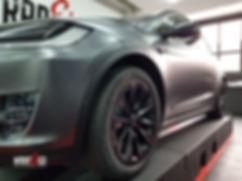 Carwrap Tesla Model X 3M Satin Grey WrapAndGo Side view