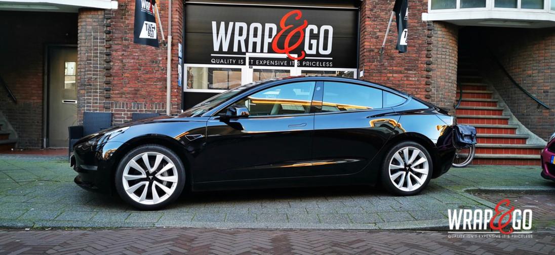 Tesla Model 3 Chrome Delete Glanzend zwa