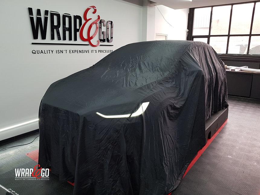Tesla Model X Satin Dark Grey Carwrapping
