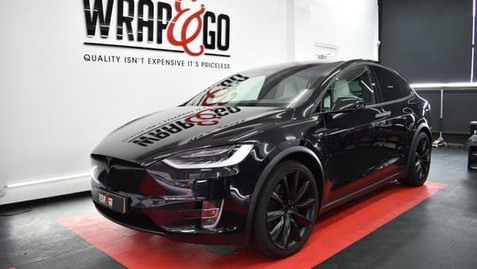 Tesla Model X Chrome Delete Mat Zwart