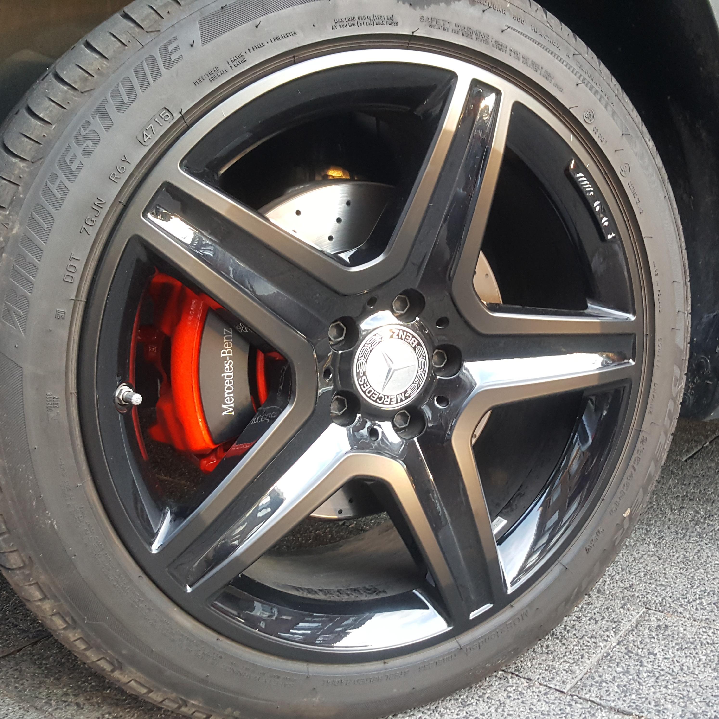 Mercedes Velgen Satin Black Gewrapt