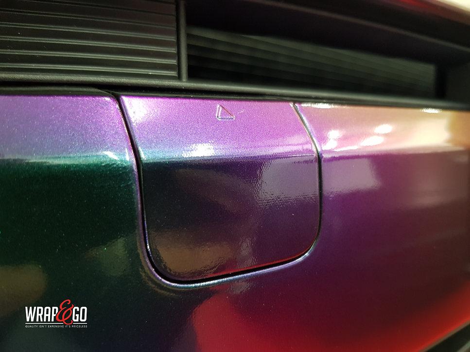 Kia Sportage Carwrap Avery ColorFlow door WrapAndGo details