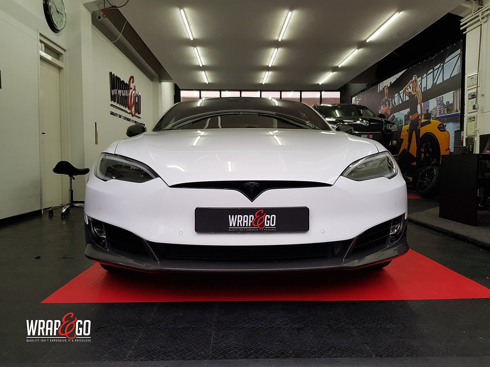 Carwrap Tesla Model S Carbon