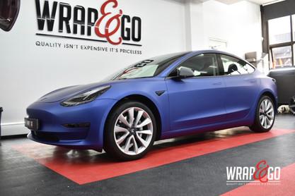 Tesla Model 3 Wrap 3M Matte Slate Blue