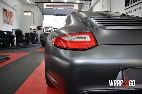 Porsche 997 3M Satin Dark Grey Car Wrap