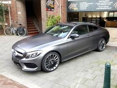 Mercedes C-klasse 3M Satin Dark Grey Car