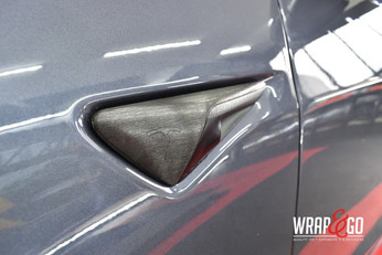 Tesla Model 3 Chrome Delete Brushed Black