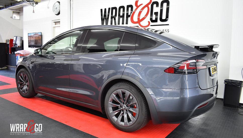 Tesla Model X Carwrap Back