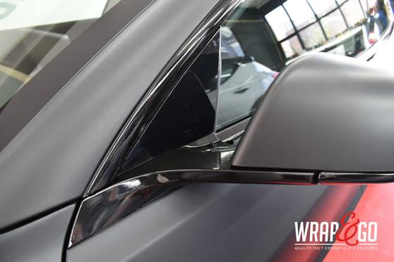 Tesla Model 3 3M Matte Black Carwrap spi