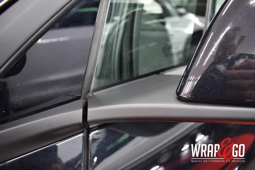 Tesla Model X Chrome Delete Mat Zwart sp