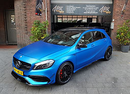 WrapAndGo Carwrap Mercedes A-klasse AMG A45 3M Satin Perfect Blue