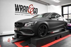 Mercedes CLA 3M Matte Black Car Wrap