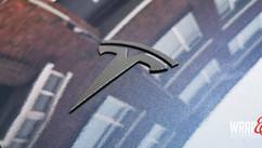 Tesla Model 3 Matrix Chrome Delete Red D