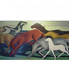 """Horses at Night"" by Frank Mechau at the Denver Public Library"