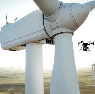 Inspektionsdrohne für Windkraftwerke
