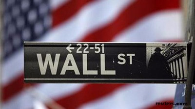 WALL STREET ENDS FLAT AS BANKS GAIN